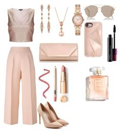 """""""rose gold obsession"""" by kaitis on Polyvore featuring Miss Selfridge, Fendi, Alexander McQueen, Fernando Jorge, LE VIAN, Michael Kors, Dorothy Perkins, Christian Dior, Rebecca Minkoff and MAC Cosmetics"""