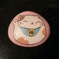 胖胖招财猫~【岩颜手绘】