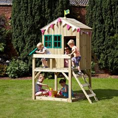 The TP Toys Forest Cottage Playhouse provides the perfect play environment for kids all year round. Allowing endless imaginative and fun outdoor play, your kids will be entertained for hours on end. Backyard Play, Backyard For Kids, Outdoor Play, Backyard Ideas, Kids Wooden Playhouse, Garden Playhouse, Childrens Outdoor Toys, Wooden Climbing Frame, Wooden Cottage