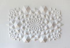 Origami Art by Matt Shlian Matt Shlian, Arte Linear, Art Sculpture, Paper Sculptures, Paper Engineering, Colossal Art, Paper Artist, Paper Folding, Origami Paper
