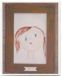 child-drawn portrait of mom; found at Inchmark