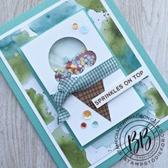 Hand Stamped Cards, Kids Birthday Cards, Beautiful Handmade Cards, Scrapbook Cards, Scrapbooking, Stamping Up Cards, Shaker Cards, Paper Pumpkin, Kids Cards