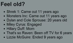 well i certainly feel old now....BUT nothing is better than the childhood classics