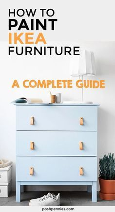 Learn all the tips and tricks to properly paint your IKEA furniture (including l. Learn all the tips and tricks to properly paint your IKEA furniture (including laminate! Painting Ikea Furniture, Laminate Furniture, Solid Wood Furniture, Dining Furniture, Furniture Projects, Diy Projects, Painting Laminate, Home Decor Bedroom, Room Decor
