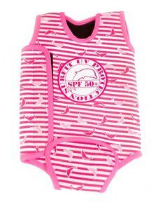 Jakabel 'Surfit' Baby Wrap - Dolphin Stripe Pink
