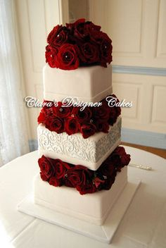 Cake with rose tiers