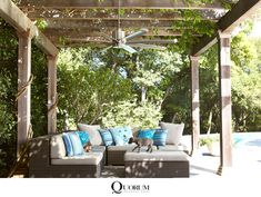 Sleek, sophisticated and sexy, the Quorum Proxima outdoor ceiling fan should have its own club. The upturned blades are positioned at just the right angle for maximum air circulation and the gorgeous, cylindrical housing adds even more contemporary artistry to this looker. | Del Mar Fans & Lighting