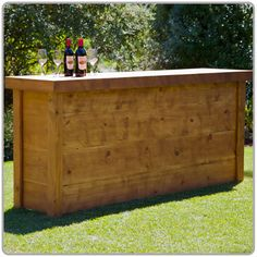 Country Pine Portable Bar available from Beverage Events