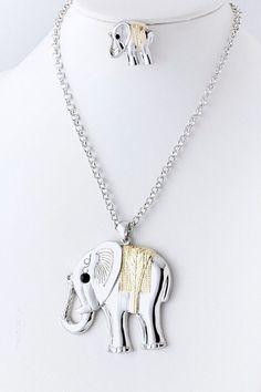 Metal Elephant Necklace