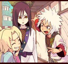 Tsunade, Orochimaru and Jiraiya.
