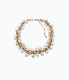 Image 1 of PEARL LINK NECKLACE from Zara