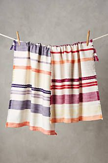 Hand-made Tassel Napkin Cotton Yarn Dyed Dish Towel Tea Towel Dishtowel Kitchen Towel Cleaning Cloth Comfortable Feel Table Napkins Home Textile