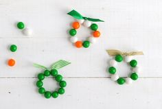 St. Patrick's Day Craft - gumball bracelets
