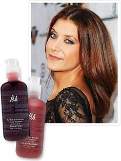 Kate Walsh's shiny gorgeous hair!  Bumble & Bumble's True Red Color Support line ($23 each; bumbleandbumble.com
