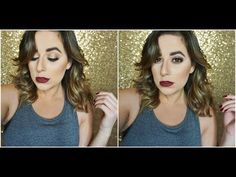 Get Ready With Me: Antique Gold Eyes & Dark Lips + Hair | Eleni Lembesis - YouTube