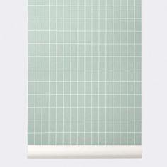 Grid wallpaper # 161 mint by Ferm living. www.emma-b.nl Veel behang op voorraad. emma b. Oudegracht 218 / Hoek Hamburgerstraat Utrecht NL