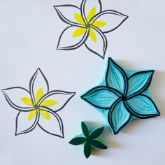 Plumeria hand carved rubber stamp by CassaStamps @Etsy