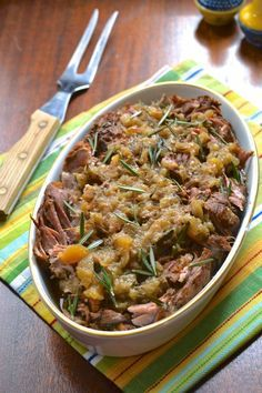 6. Slow Cooker Apple Rosemary Pork Roast #greatist http://greatist.com/eat/whole30-recipes-you-can-make-in-a-crock-pot