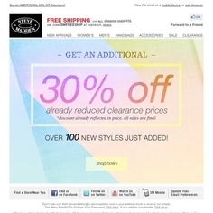 Steve Madden - Additional 30% Off Clearance