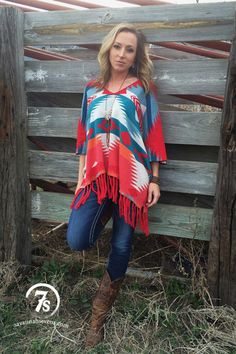 The Rio Rojo – Tasha Polizzi poncho from Savannah Sevens Western Chic