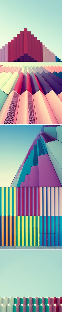 Nick Frank is a Germany based photographer and art director who photographs urban architecture in Munich. The Mira series showcases vibrant color blocking in an urban landscape environment. Here, the stunning colors and geometric structures are beautifully explored.