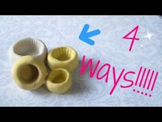 4 ways to make a cupcake base mold. - YouTube