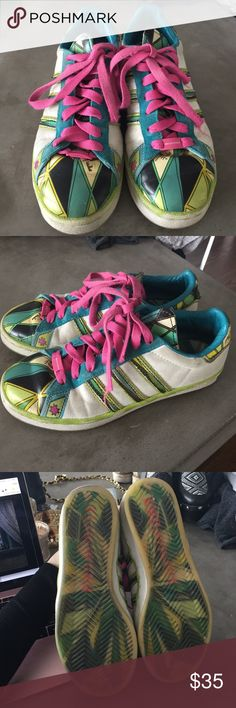 PUCCI x ADIDAS Sneakers 35.5 Super rare!!! From the Emilio Pucci x Adidas collaboration some years ago. These shoes have seen better days, however rest assured that nobody else will have these babies... Adidas Shoes Sneakers
