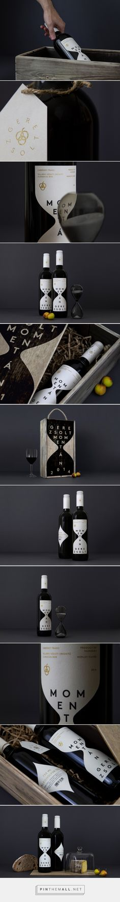 Momentán Wine Label (Concept) - Packaging of the World - Creative Package Design Gallery - http://www.packagingoftheworld.com/2016/10/momentan-wine-label-concept.html