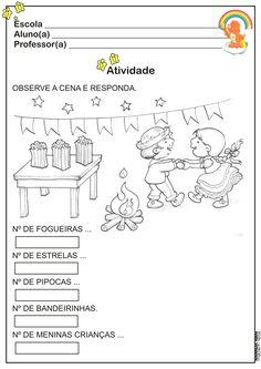 Atividade Festas Juninas Educação Infantil Matinê Caipira | Ideia Criativa - Gi Barbosa Educação Infantil