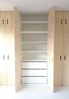 Wardrobe Closet, Built In Wardrobe, Closet Bedroom, Walk In Closet, Home Bedroom, Bedroom Decor, Boys Closet, Bedroom Cabinets, Cheap Bathrooms