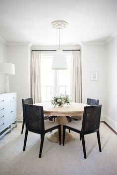 Simple And Beautiful Dining Room With The Charlotte Pedestal Table From AVE  Raw | Lark And