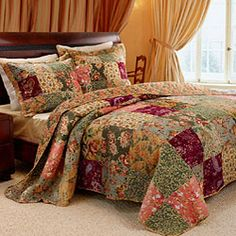 @Overstock.com - This Antique Chic quilt bedspread allows you to sleep in classic comfort with a charming patchwork of richly printed fabrics. This bedding set showcases vermicelli stitching durability and fine surface texture. http://www.overstock.com/Bedding-Bath/Antique-Chic-Queen-size-3-Piece-Bedspread-Set/5619728/product.html?CID=214117 $109.99