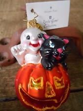 Christopher Radko BOO BUDS GEM Glass Ornament Halloween Cat Ghost Pumpkin - NWT