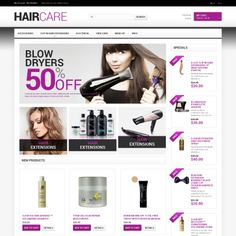 Magento Theme for Hairdresser's Stuff Website