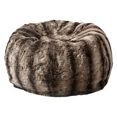 Chinchilla Faux Fur Bean Bag | Arhaus Furniture