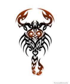 Poisopion by RunawayMarionette on DeviantArt Escorpion Tattoo, Body Art Tattoos, Small Tattoos, Tatoos, Tribal Tattoos, Tribal Tattoo Designs, Dream Tattoos, Future Tattoos, Scorpio Art