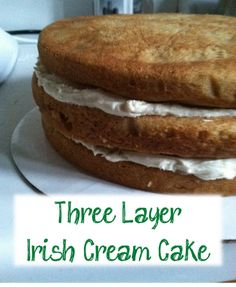 Three Layer Irish Cream Cake Recipe + Easy Birthday Cake Decorating Tutorial by Julie Vision in the Kitchen
