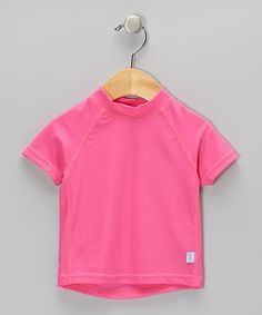 Take a look at this Hot Pink Short-Sleeve Rashguard - Infant & Toddler by i play on #zulily today!