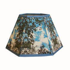 Hexagonal fabric lampshade handmade 5x10x7 H  by Gingerartlamps, $70.00