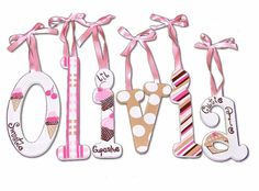 Olivia Sweet Shop Hand Painted Wall Letters