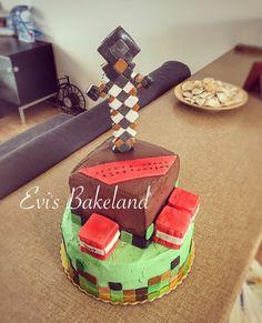 Minecraft Bday Cake