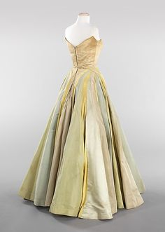 """Ribbon"", Charles James, spring/summer 1947, silk, Dimensions: Length at CB: 58 in. (147.3 cm)"