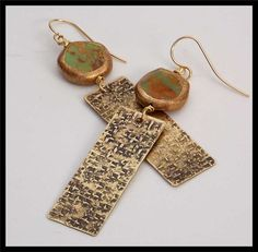 SILK ROAD  Turquoise Smothered in Gold  by sandrawebsterjewelry