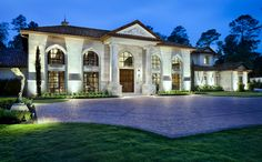 Classic Transitional | Jauregui Architects Texas Mansions, Mansions For Sale, Beautiful Villas, Beautiful Homes, Laurence Amelie, African House, Mansion Designs, Floating Staircase, Staircase Glass