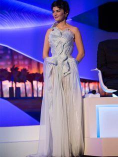 #Audrey #Tautou en robe Yiqing Yin