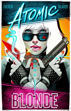 Atomic Blonde fan art poster by Ed Griffin. Starting Charlize Theron & James McAvoy