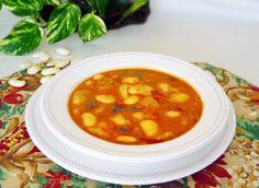 Receta de Alubias blancas de bote con verduras - Fácil