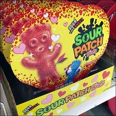 "Billed as combining tastes, Sour Patch Kids Sweeten Valentine's Day offers a built in contrast … ""Sour then Sweeet."" So the ultimate experience ends on. Baked Donut Recipes, Baked Donuts, Valentine Day Offers, Valentines Day, Cardboard Cartons, All Candy, Sour Patch Kids, Candy Store, Patches"
