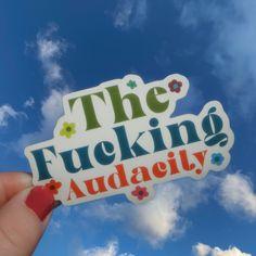 The F*ing Audacity Vinyl Die Cut Stickers