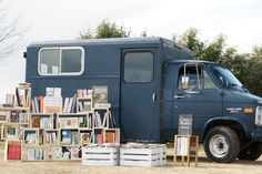 BOOK TRUCK-library on wheels http://www.cavendishsq.com/